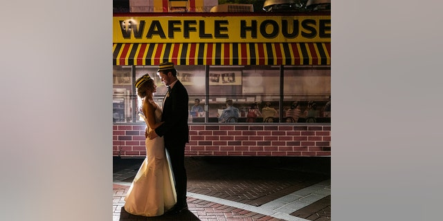 The Sheelys hired a hired a Waffle House food truck to appear at the end of the night.
