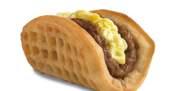 FILE: This undated product image provided by Taco Bell shows the company's new waffle taco.
