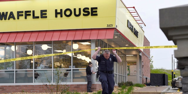 Several people were injured from flying glass after the gunman opened fire outside of the Waffle House.