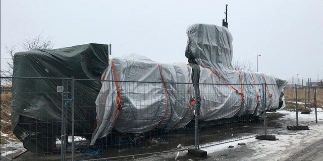 The Wednesday, March 7, 2018 photo shows the submarine UC3 Nautilus of Danish inventor Peter Madsen in Copenhagen, Denmark.