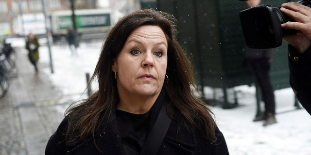 Defense attorney Betina Hald Engmark arrives at the courthouse where the trial of Danish inventor Peter Madsen, charged with murdering and dismembering Swedish journalist Kim Wall aboard his homemade submarine, opens in Copenhagen, Denmark March 8, 2018.
