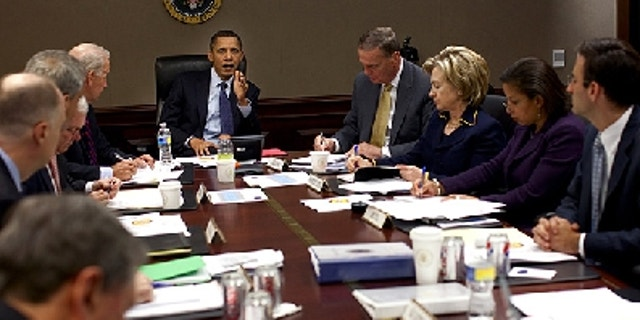 Nov. 23: President Obama holds a meeting on Afghanistan in the Situation Room. (Pete Souza, White House)