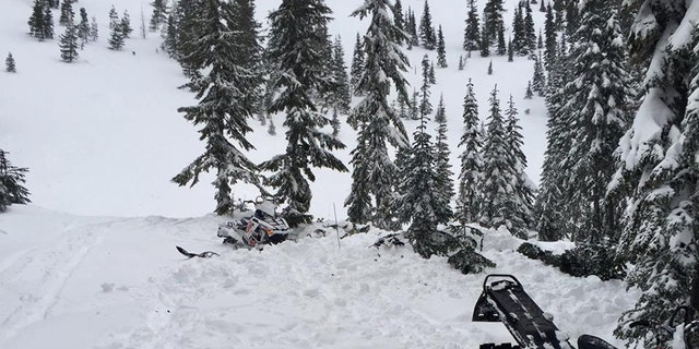 A 32-year-old man snowmobing was friends was killed in an avalanche on Sunday at Titled Mirror Lake near Stevens Pass in Washington.