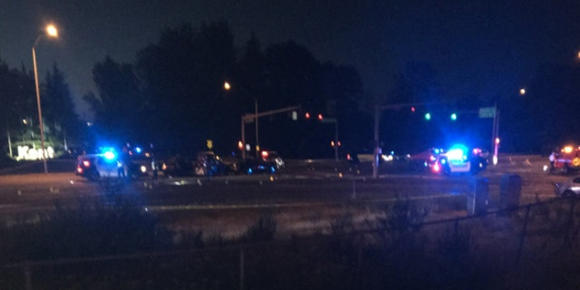 A police officer was killed after he was struck by a vehicle during a pursuit of a truck early Sunday, according to officials.