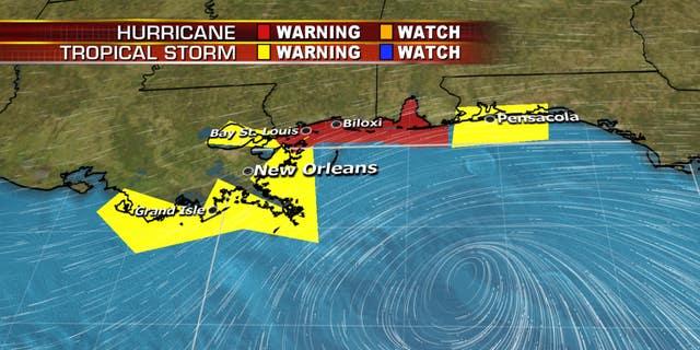 Tropical storm and hurricane warnings as Tropical Storm Gordon nears the Gulf Coast.