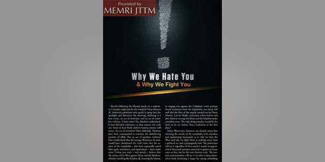 "The magazine featured a section called ""Why We Hate You."""