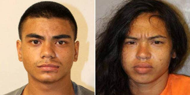 Police arrested Harvey Damo Jr., left, and Shevylyn Klaus on suspicion of car theft. Police said they are believed to be associates of a man suspected of killing a Big Island police officer.