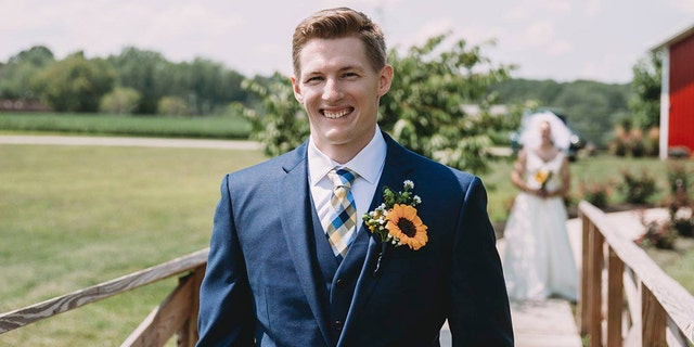The groom had no idea what his bride was planning.