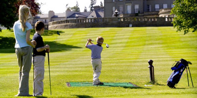 Kids golfing at Gleneagles.