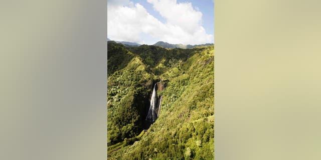 Waterfall at kauai national park