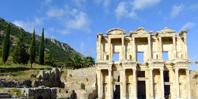 The archaeological sites of Ephesus in Turkey was a center of travel and commerce in the ancient world.