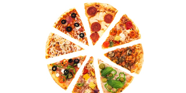 Different pizza slices