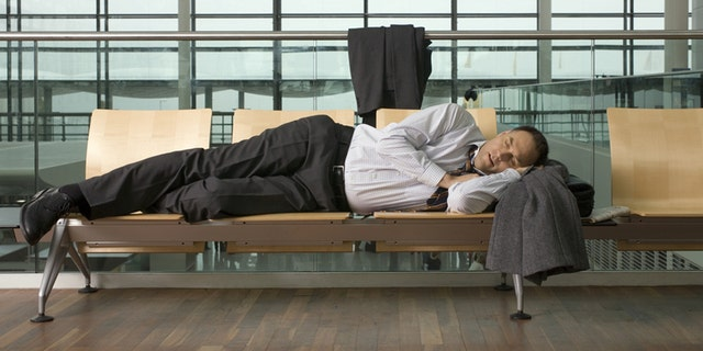 Sleeping in airports is never fun.