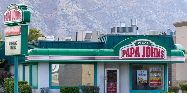Provo, United States - October 2, 2016: Papa John's restaurant exterior. Papa John's Pizza is the fourth largest take-out and pizza delivery restaurant chain in the United States.
