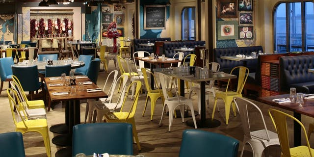 Jamie Oliver's kid-friendly restaurant, Jamie's Italian, onboard the Anthem of the Seas.