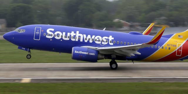 A Southwest plane takes off in Dallas. The low-cost carrier has above-average pitch...but just hope you don't wind up in the last boarding group.