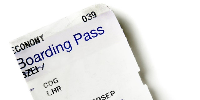 airline boarding pass stub