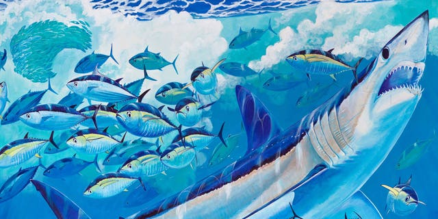 Guy Harvey will sell limited edition merchandise to fund educational programs and research.