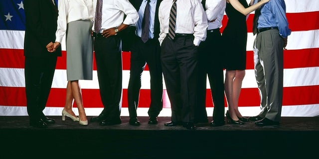 """The NBC television series """"The West Wing"""" received an Emmy nomination for Best Drama Series, and received the second most nominations for any series, 18, as nominations were announced in Los Angeles July 12, 2001. Cast members shown (L-R) are Richard Schiff, Allison Janney, Dule Hill, John Spencer, Martin Sheen, Rob Lowe, Janel Moloney and Brad Whitford. The Emmy Awards will be presented in Los Angeles September 16. In addition, both Sheen and Lowe received nominations as Best Lead Actor in a Drama Series for their roles. - RTXKMN2"""