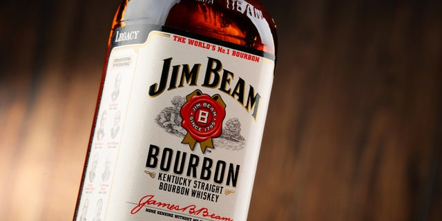 POZNAN, POLAND - NOVEMBER 4, 2015: Jim Beam is one of best selling brands of bourbon in the world, produced by Beam Inc. in Clermont, Kentucky.