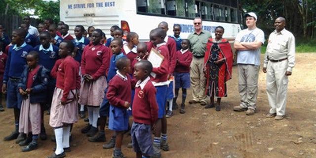 A conservation field trip in Kenya.