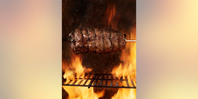 Top Sirloin Beef Roast on the BBQ - Photographed on a Hasselblad H3D11-39 megapixel Camera System