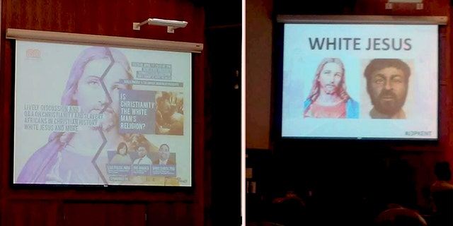 """Student groups at Kent State University hosted an event titled """"Is Christianity the White Man's Religion?"""""""