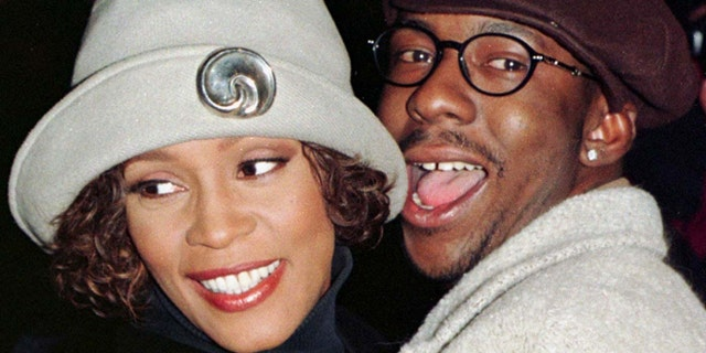 Whitney Houston and then-husband Bobby Brown.