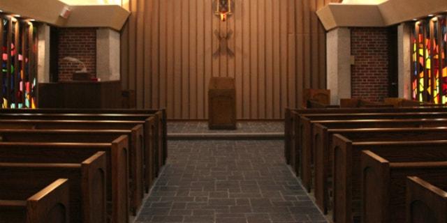 Wichita State University chapel before its renovation (Courtesy Wichita State).