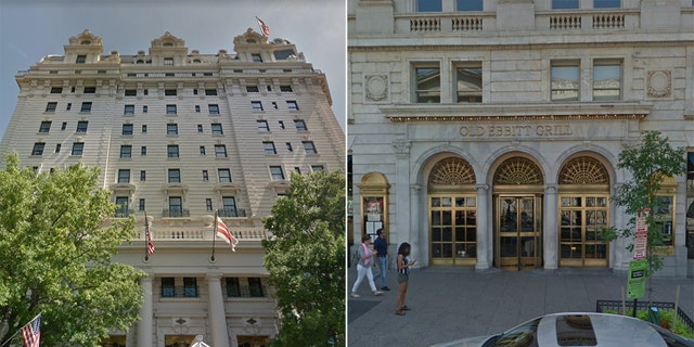 Before his arrest at the Ritz-Carlton, Nicholas James Cooper, 21, had already been charged with theft after trying to skip out on the bill at the Willard InterContinental and Old Ebbitt's Grill.