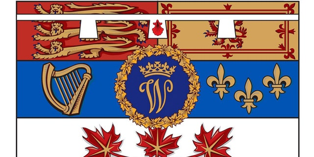 This artist's rendering provided by the Canadian government shows the design of the personal flag to be used by Prince William, the Duke of Cambridge, while he is on his visit to Canada.