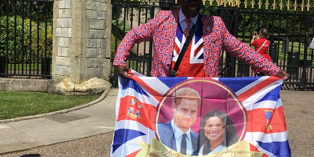 Joseph Afrane plans to wear a different celebratory outfit each day leading up to the royal wedding.