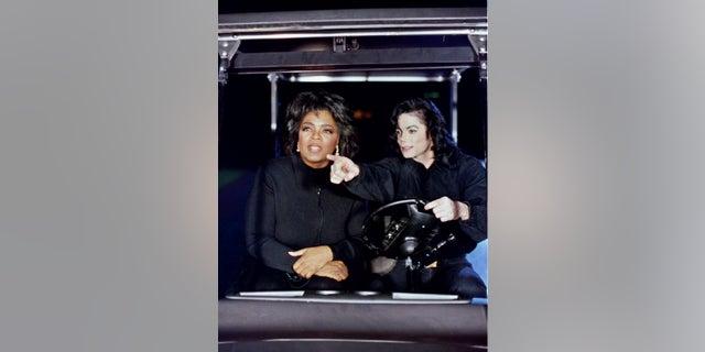 animals Oprah Winfrey with Michael Jackson.