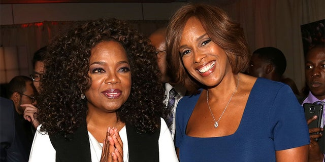 """Gayle King (right) says her long time friend and famous talk show host, Oprah Winfrey (left), is not """"actively considering"""" 2020 presidential run."""