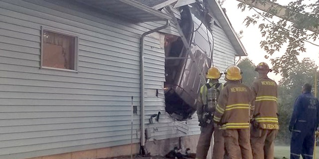 """""""This was not your typical accident that you would expect to respond to,"""" the Newburg Fire Department said."""