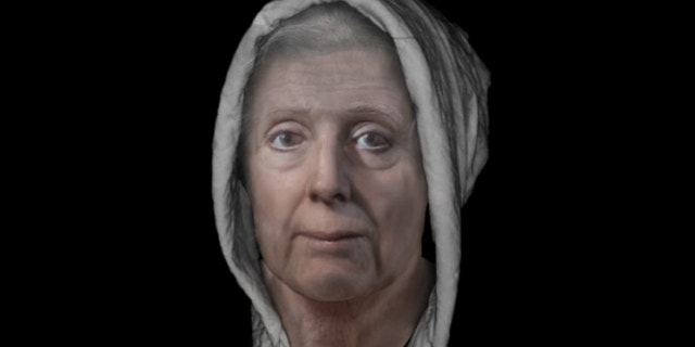 The reconstruction of Lilias Adie's face (The University of Dundee)