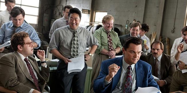 """Jonah Hill and Leonardo DiCaprio in """"The Wolf of Wall Street"""" -- the first major film to get a digital only release."""