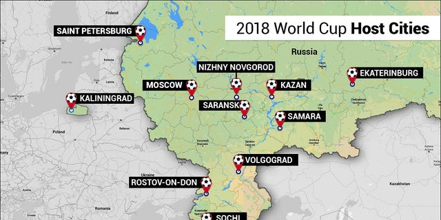 The 2018 World Cup will take place in 11 different cities across Russia.