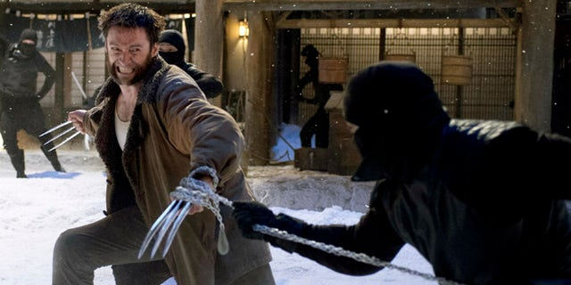 """This publicity image released by 20th Century Fox shows Hugh Jackman in a scene from """"The Wolverine."""""""