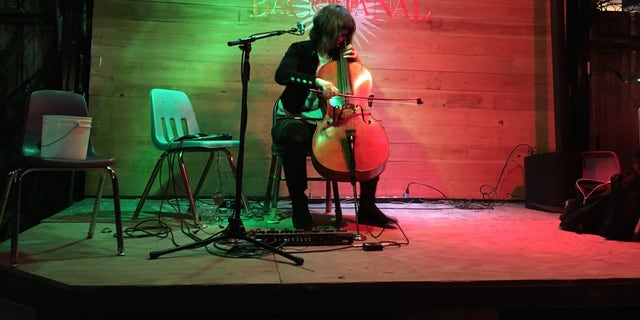 Jazz cellist Helen Gillet performs at Bacchanal Wine on Monday, March 12. Gillet says it's important to recognize the past contributions of female jazz artists in New Orleans.