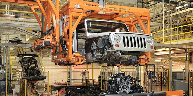 The Wrangler is built at a complex in Toledo, Ohio, that houses many of its suppliers.