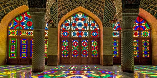 EGC0AK Nasir al-Mulk Mosque in Shiraz. Image shot 2014. Exact date unknown.