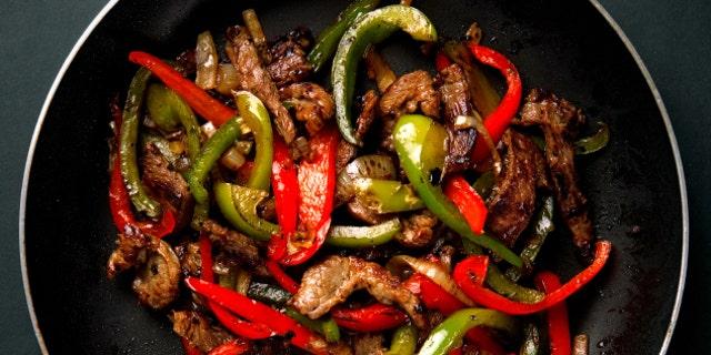 Sizzling steak is just the base for a great fajita.