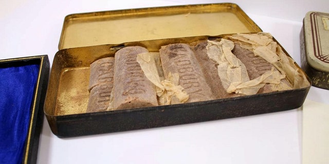 """An auctioneer said that the tin itself is rare, but """"to find the chocolate still inside is unreal."""""""