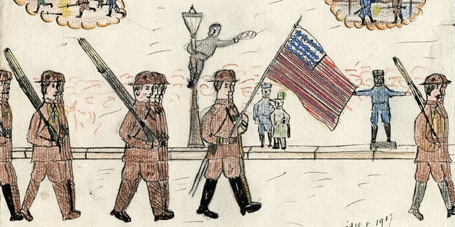 In an exhibit at the National World War I Museum in Kansas City, drawings and essays from French school children after Americans landed in France in 1917 will be showcased.