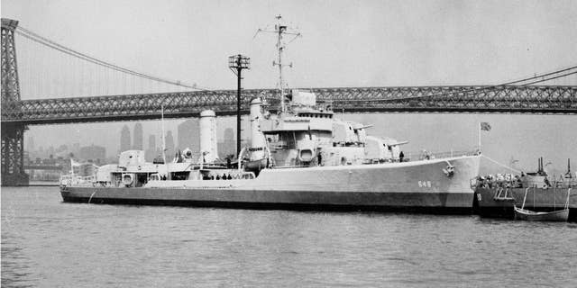 The USS Turner pictured on the East River in New York City.