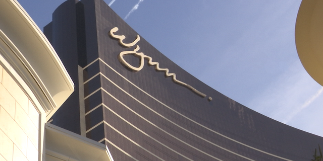 They Wynn Hotel stands over the Las Vegas strip