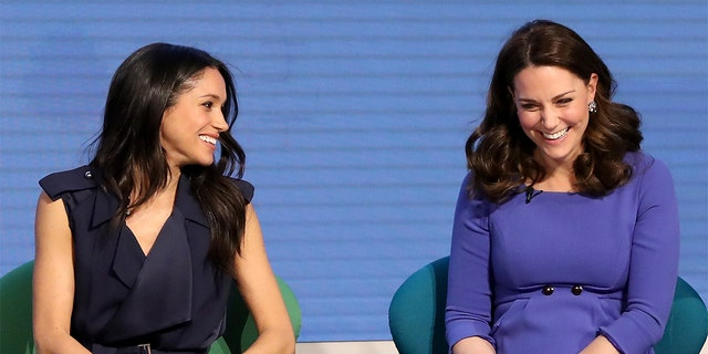 Meghan Markle, Duchess of Sussex (left) and Kate Middleton, Duchess of Cambridge.