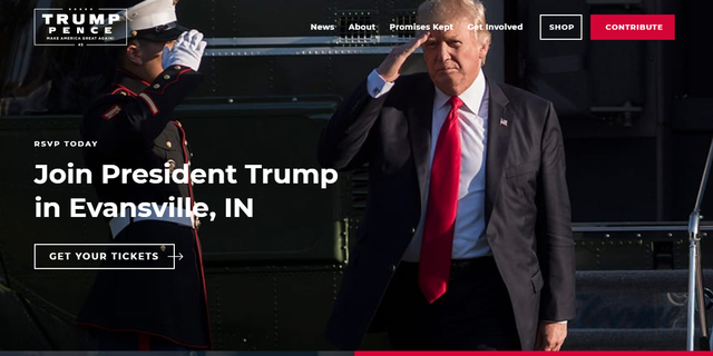 Visitors to the website advertised by Michael Cohen's lawyers are instead redirected to donaldjtrump.com.