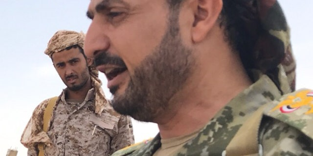 Yemen Army Commander Yahya Hatemi, who helms the Naham Mountain outpost in the Sana'a govornate on the periphery of the Houthi-controlled capital city of the same name